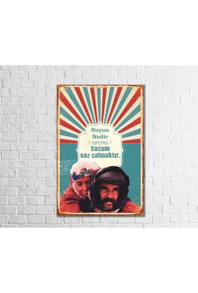 Fandomya Ahşap Poster Suçun Nedir 12 x 17 cm + Çift Taraflı Bant