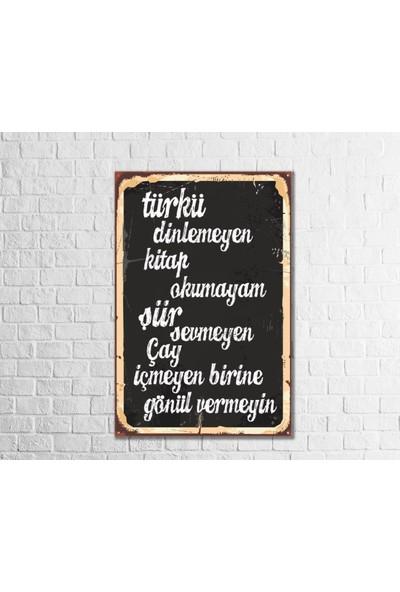 Fandomya Ahşap Poster Yazı 12 x 17 cm + Çift Taraflı Bant