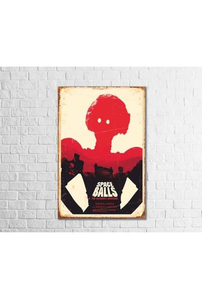 Fandomya Ahşap Poster Space Balls 12 x 17 cm + Çift Taraflı Bant