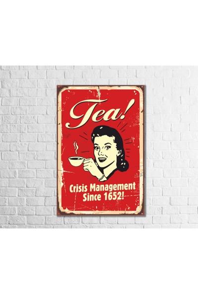 Fandomya Ahşap Poster Tea Team 12 x 17 cm + Çift Taraflı Bant
