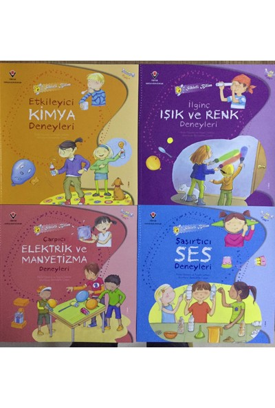 Tübitak Popüler Bil. Kitapları Tübitak Sihirli Bilim Etkileyici Deneyler 4 Kitap Set (9 Yaş+)