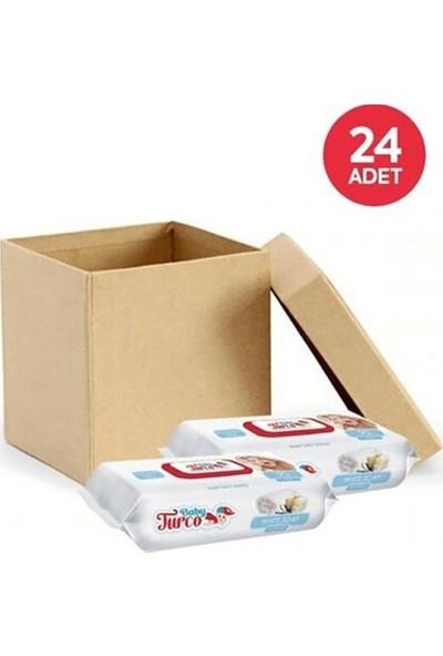 Baby Turco Beyaz Sabun Kokulu Islak Havlu 90'lı x 24 Paket