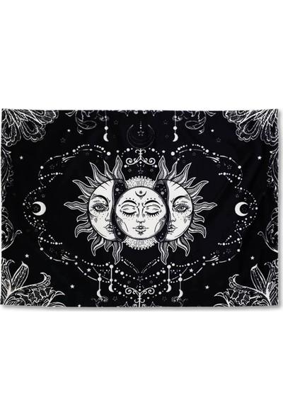 Markamindirim Güneş Kız Tasarım Siyah Duvar Halısı