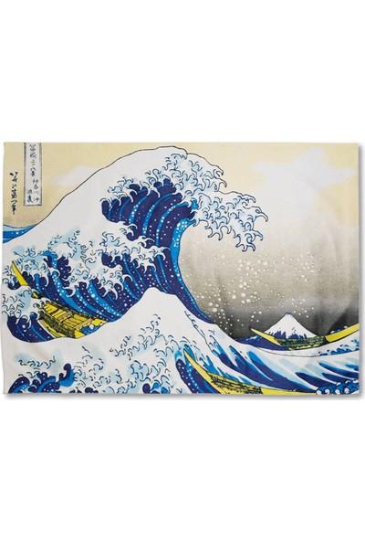 Markamindirim Kanagawa Wave Tasarım Mavi Duvar Halısı
