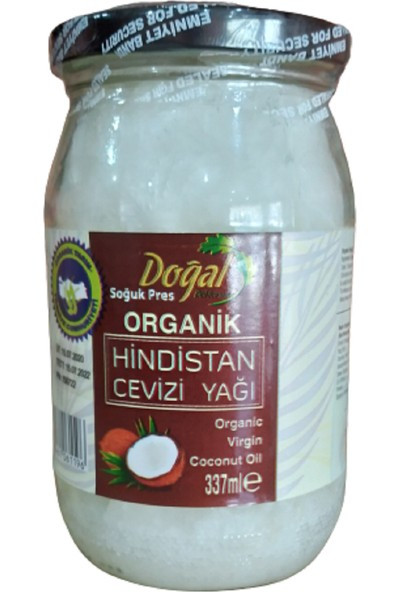 Doğal Doktorum Soğuk Pres Organik Hindistan Cevizi Yağı 337 ml