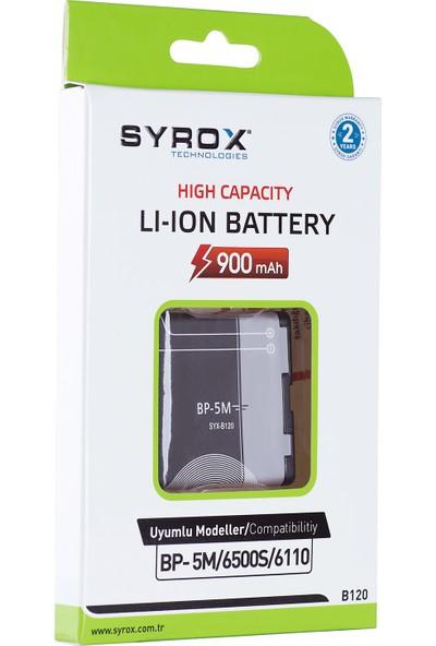 Syrox B120 BP-5M/6500S/6110 900 Mah Li-Ion Batarya