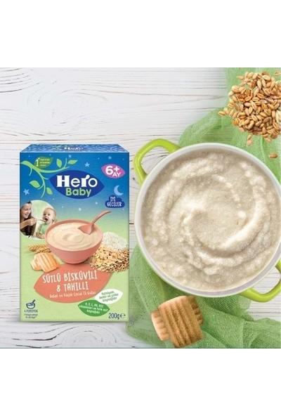 Hero Baby Sütlü Bisküvili 8 Tahıllı 200 gr x 6 Adet