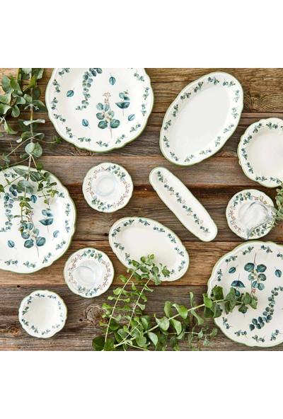 Bella Maison Ocaliptus 26 Parça 6 Kişilik Kahvaltı Takımı Yeşil
