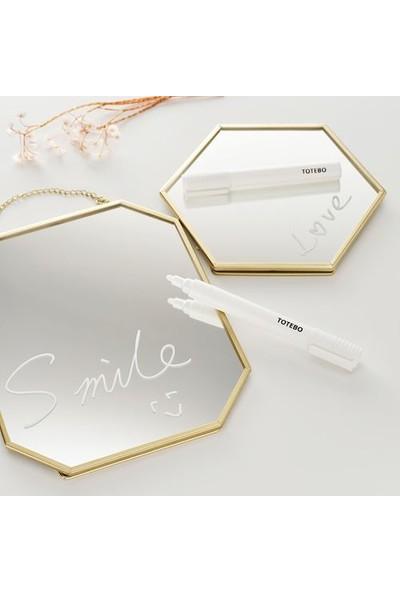 İkea Gold Masa Aynası 17CM Altın Rengi