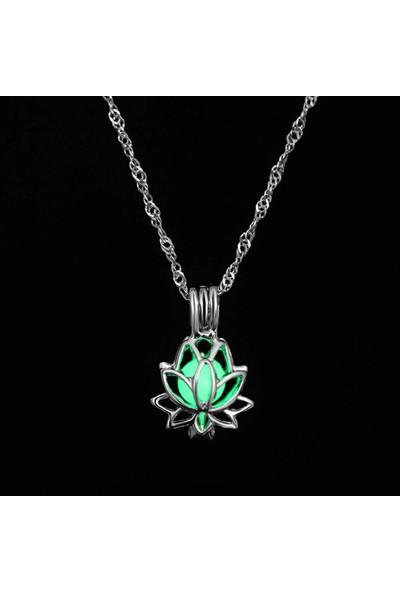 Lotuslight Karanlıkta Işık Veren Lotus Çiçeği Kolye