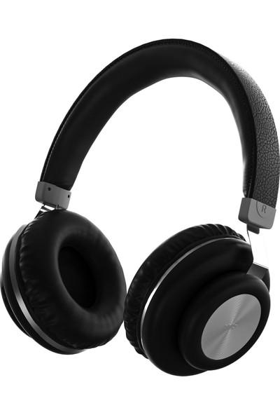 MF Product Acoustic 0125 Mikrofonlu Kulak Üstü Kablosuz Bluetooth Kulaklık Siyah