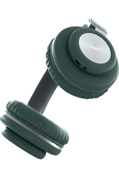 MF Product Acoustic 0125 Mikrofonlu Kulak Üstü Kablosuz Bluetooth Kulaklık Yeşil