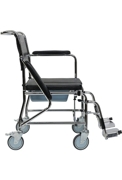 Golfi̇ G-125A Banyo Tuvalet Tekerlekli Sandalye / Commode Wheelchair