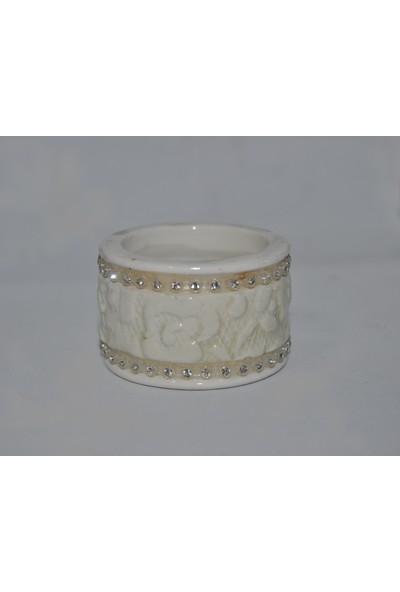 KAYALAR Porselen Yüzük Peçetelik, 3 cm