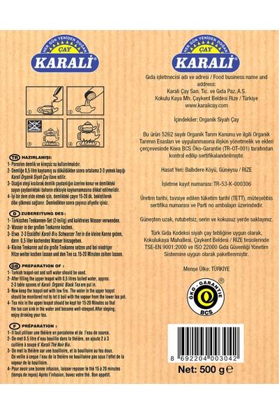 Karali Organik Dökme Siyah Çay 500 grx 3 Adet
