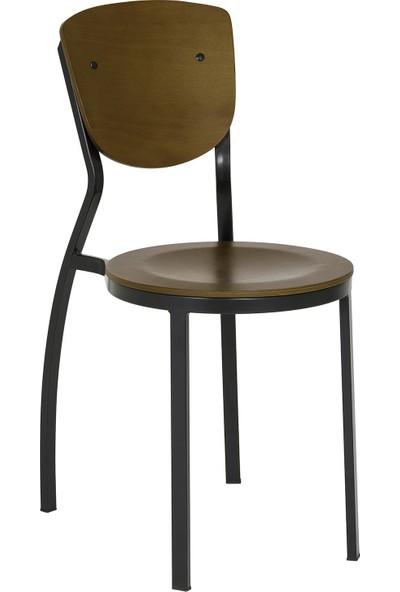 Bintaş Mobilya Obje Ahşap Metal Istiflenebilir Sandalye