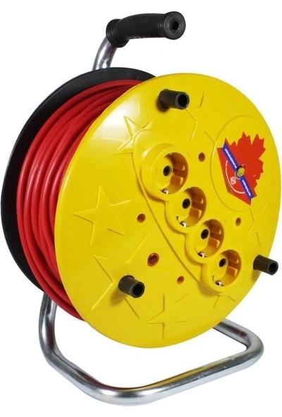 Wincell Seyyar Makaralı Uzatma Kablo 3×2,5 mm 50 Metre