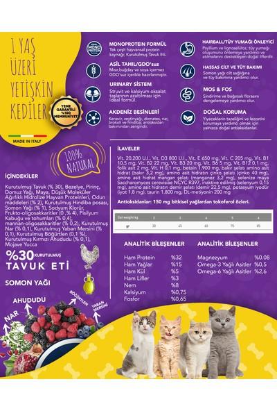 Exclusion Düşük Tahıllı Monoprotein Tavuklu Yetişkin Kedi Maması 300 Grm