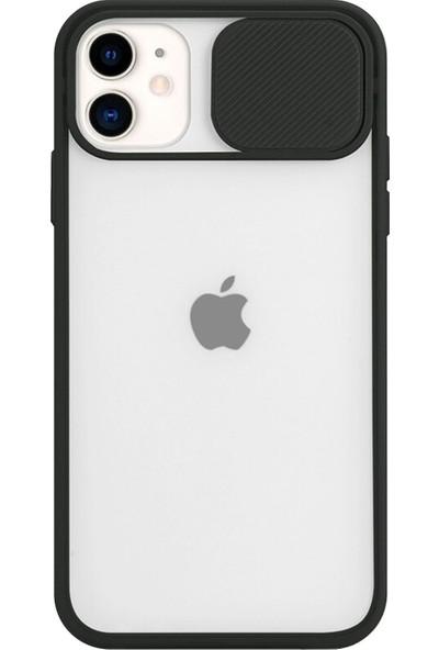 Erl Apple iPhone 11 (6.1'') Kamera Lens Korumalı Sürgülü Lüx Kılıf