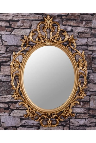 Çelik Ayna Oval Dekor Ayna