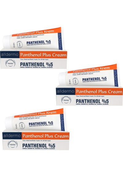 Alldermo Panthenol Plus Krem 120 gr x 3 Adet