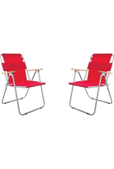 Zizuva Ahşap Kollu Katlanır - 2 Lü Sandalye