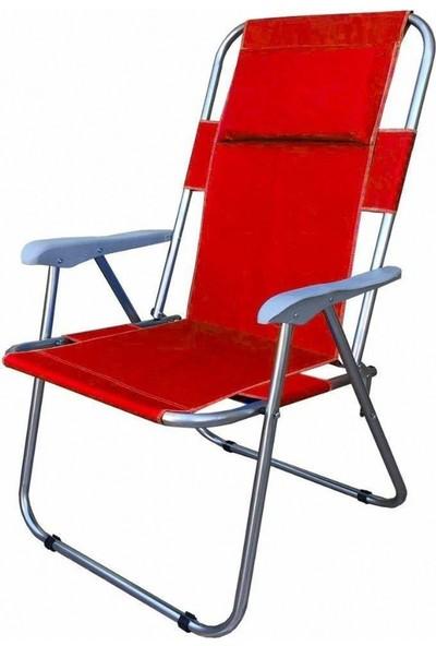 Zizuva Katlanabilir Yastıklı Piknik-Kamp Sandalyesi Kırmızı
