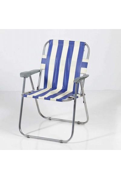 Zizuva Katlanabilir Piknik/kamp Sandalyesi-Mavi