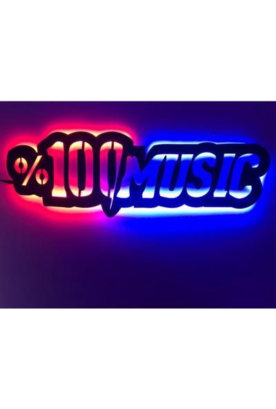 Dekoraven Müzik LED Işıklı Tablo