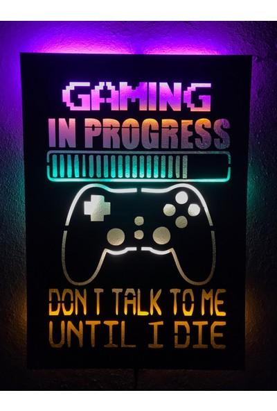 Dekoraven Gaming In Progress Işıklı Tablo