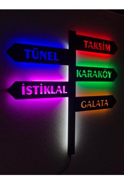 Dekoraven Istanbul Tabela Işıklı Tablo