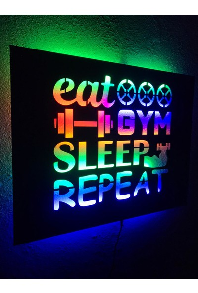 Dekoraven Fitness Gym Işıklı Tablo