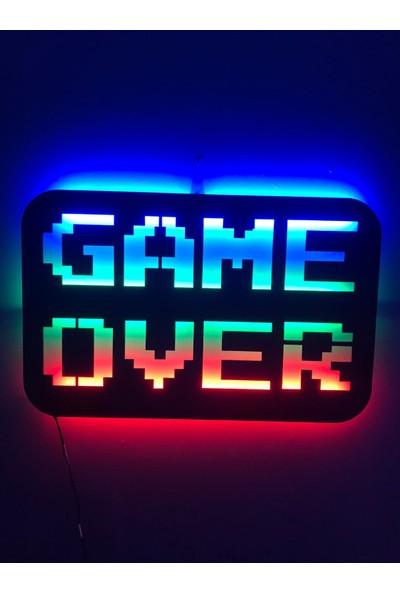 Dekoraven Game Over Işıklı Tablo