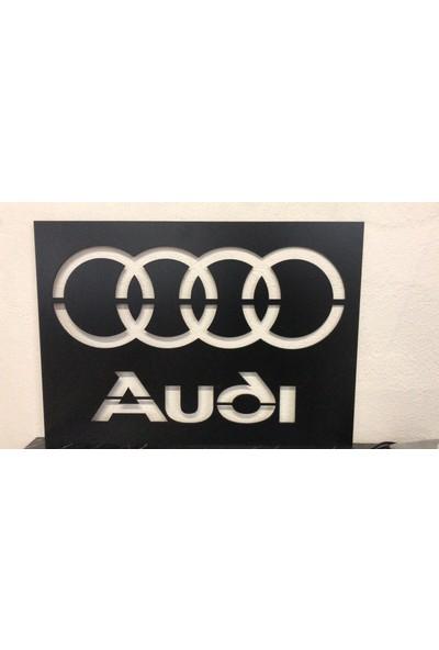 Dekoraven Audi Logo Işıklı Tablo