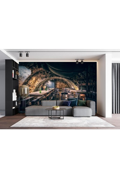Penta Eski Şarap Evi Duvar Posteri ARC72653 210 x 140 cm