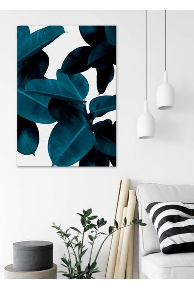 Dekoliya Suluboya Yapraklar Dekoratif Kanvas Tablo 30 x 45 cm
