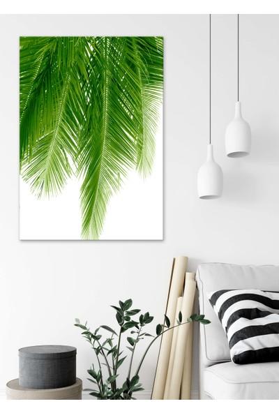 Dekoliya Palmiye Yaprak Dekoratif Kanvas Tablo 30 x 45 cm