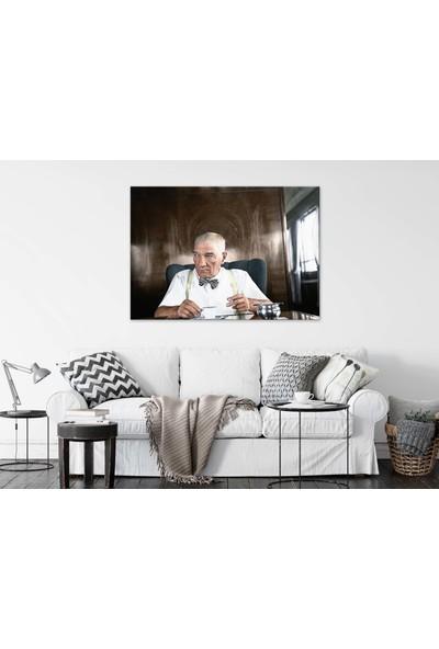 Dekoliya Renkli Atatürk Dekoratif Kanvas Tablo 30 x 45 cm