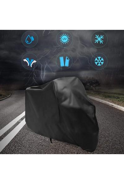 Autoen Arora Ar 100-8 Klasik Çelik Motosiklet Brandası Motor Brandası Siyah
