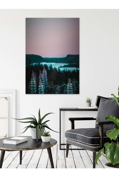 Dekoliya Çiçek Temalı Doğa Manzara Dekoratif Kanvas Tablo 30 x 45 cm