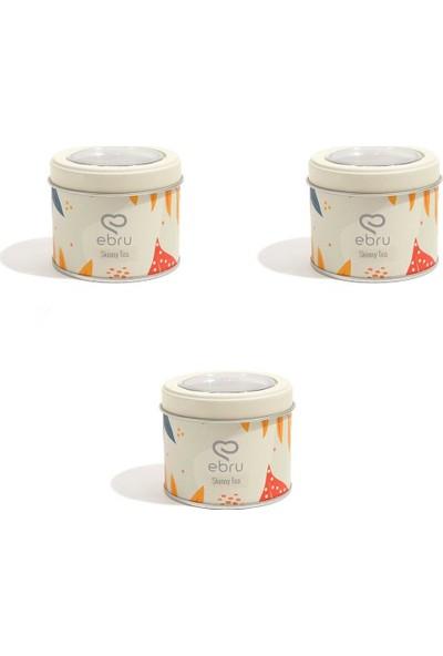 Chado Ebru Şallı Skinny Tea Fit Çay 3'lü Set