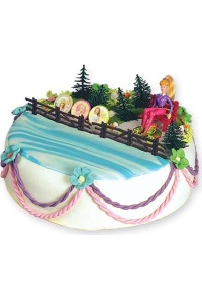 Doğanay Barbie Set Figürlü Pasta Süsü
