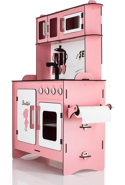 Emrin Oyuncak Hediyelik Büyük Boy Pembe Evcilik Oyuncak Mutfak Seti