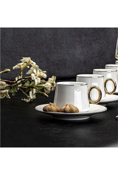 Taç Tulip 2'li Kahve Fincan Seti Gold