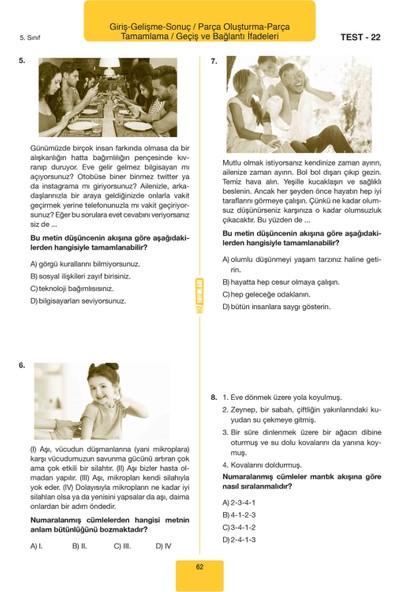 Hız Yayınları 5. Sınıf Türkçe Paragraf Soru Bankası
