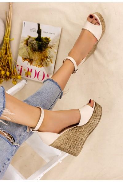 7erbilden Karlia Krem Cilt Dolgu Topuk Sandalet