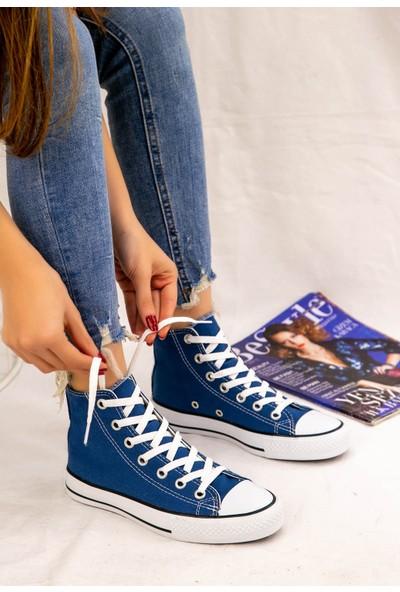 7erbilden Kori Mavi Keten Bot Spor Ayakkabı