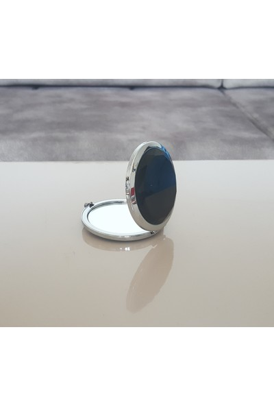 Moda Feneri Siyah Taşlı Makyaj Aynası