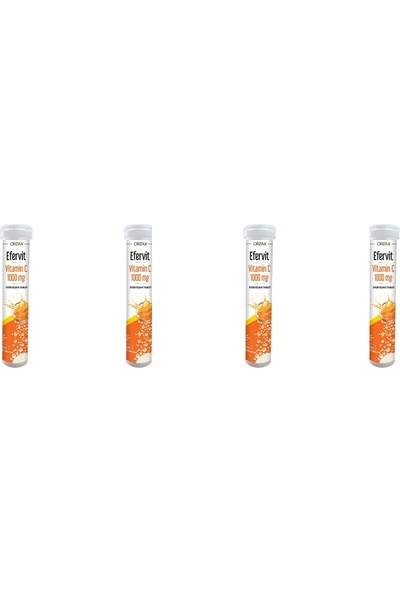 Orzax Efervit Vitamin C 1000MG 20 Tablet 4'lü Paket