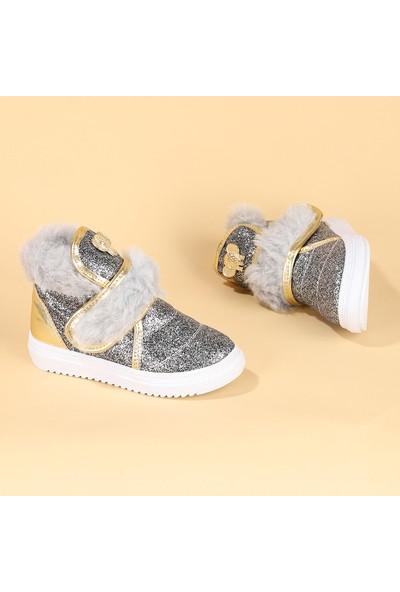 Sanbe 122 S 8002 Cırtlı İçi Termal Kürklü Kız Çocuk Bot Ayakkabı